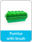 pumice with brush