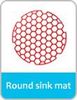 round sink mat